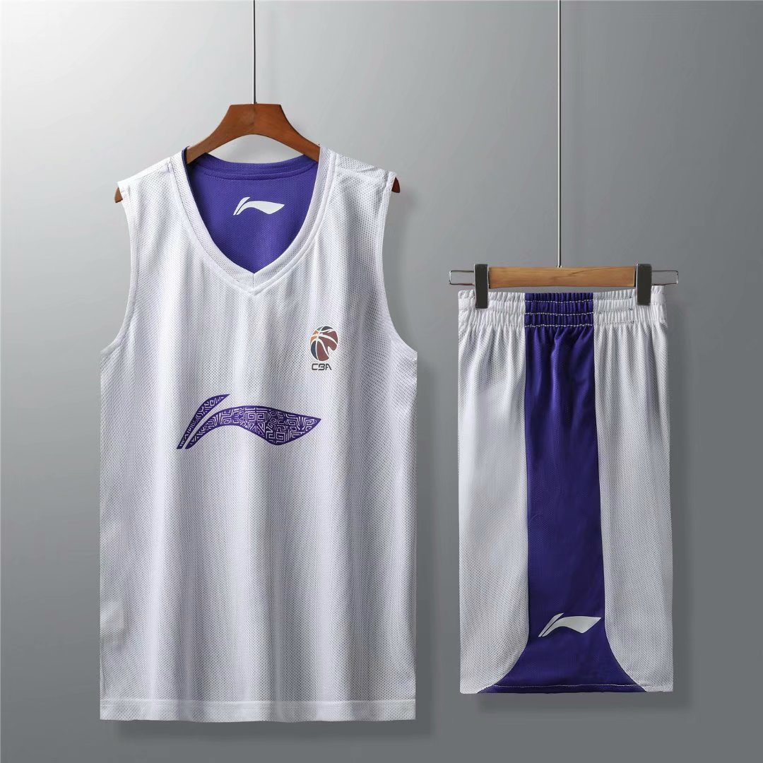 球衣CBA赞助双面篮球服套装男夏定制印字透气团购春节篮球比赛服