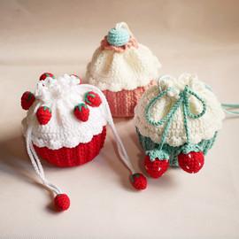 纸杯蛋糕手工钩针编织包包毛线钩织斜diy材料包自制斜挎包送女友