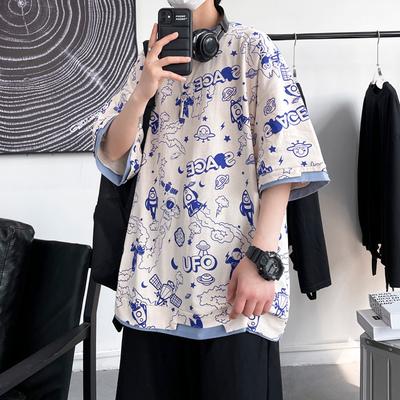 大皂敏 电商A088-DA201-P35 100棉 夏季短袖宽松大码T恤半袖 男4