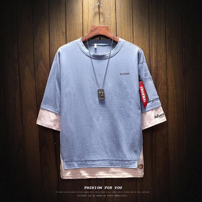 挂拍木 电商A088-T18838-P35 95%棉 5%聚酯纤维 夏装短袖T恤 男装