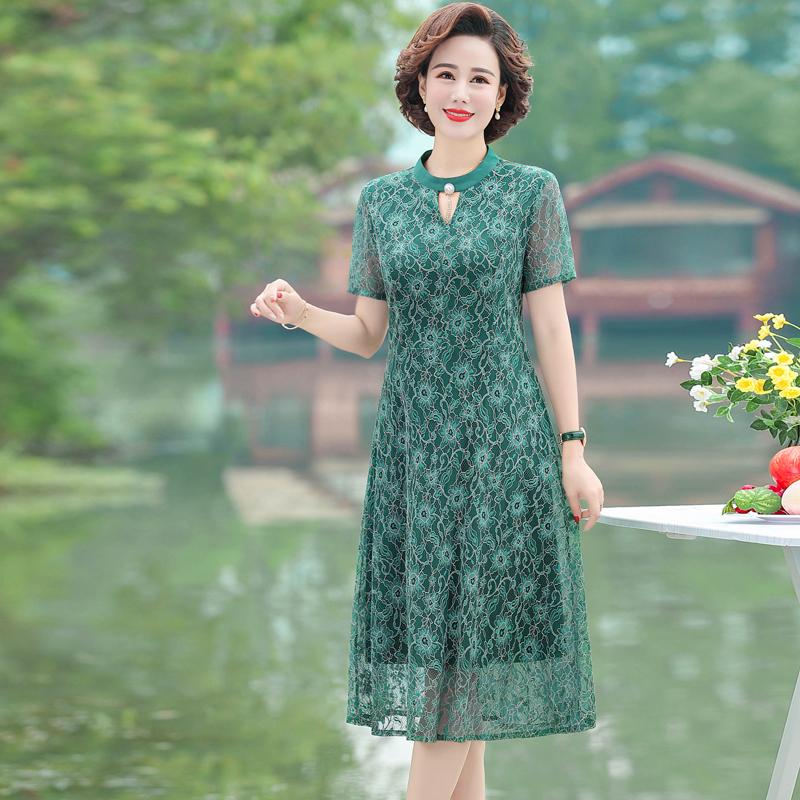 2020新款潮流时尚气质夏装连衣裙中年女装洋气高贵夏款 L2508/110
