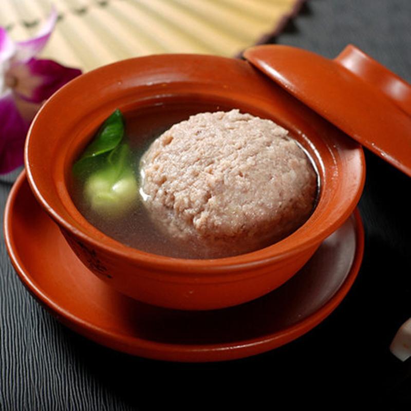 天天特价扬州红烧狮子头肉丸子斩肉特产五亭桥舌尖上的中国美食熟