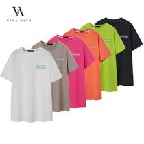 薇娅viya定制2020夏装新款CSS007290印花圆领纯色T恤