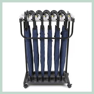 新型带锁12头雨伞架落地式大堂酒店伞具商用雨伞收纳架存放雨伞架价格