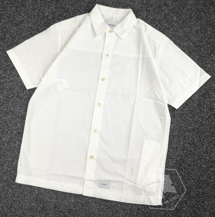 飄渺現貨WTAPS PARMER SS SHIRT COTTON SEERSUCKER短袖襯衫20SS