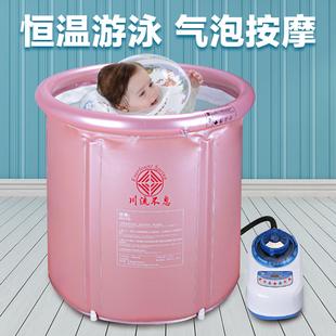 川流不息恒溫加熱嬰兒充氣游泳池
