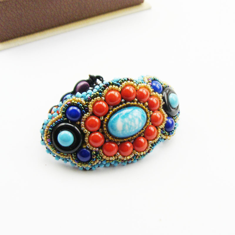 F88 European and American foreign trade jewelry exaggerated retro gem bracelet bracelet exclusive Bracelet