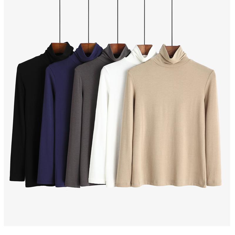 黑色高领莫代尔薄款体恤内搭打底衫12月02日最新优惠