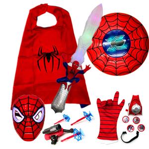 领1元券购买蜘蛛侠面具披风玩具剑声光发射器