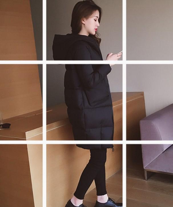 大码冬装女胖mm2017新款羽绒棉服中长款胖妹妹连帽棉衣200斤显瘦