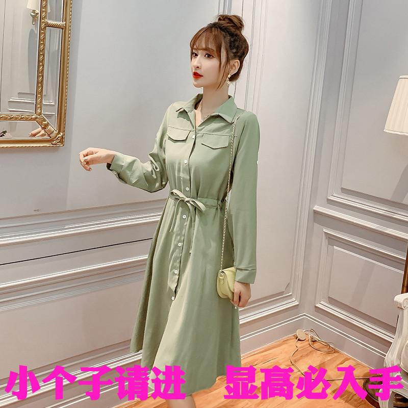 小码xs号新款女装店秋季桔梗连衣裙限3000张券