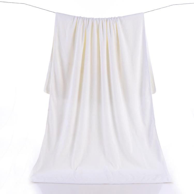 白浴巾美容院超吸水70*140超細纖維速乾巾酒店賓館白毛巾比棉吸水