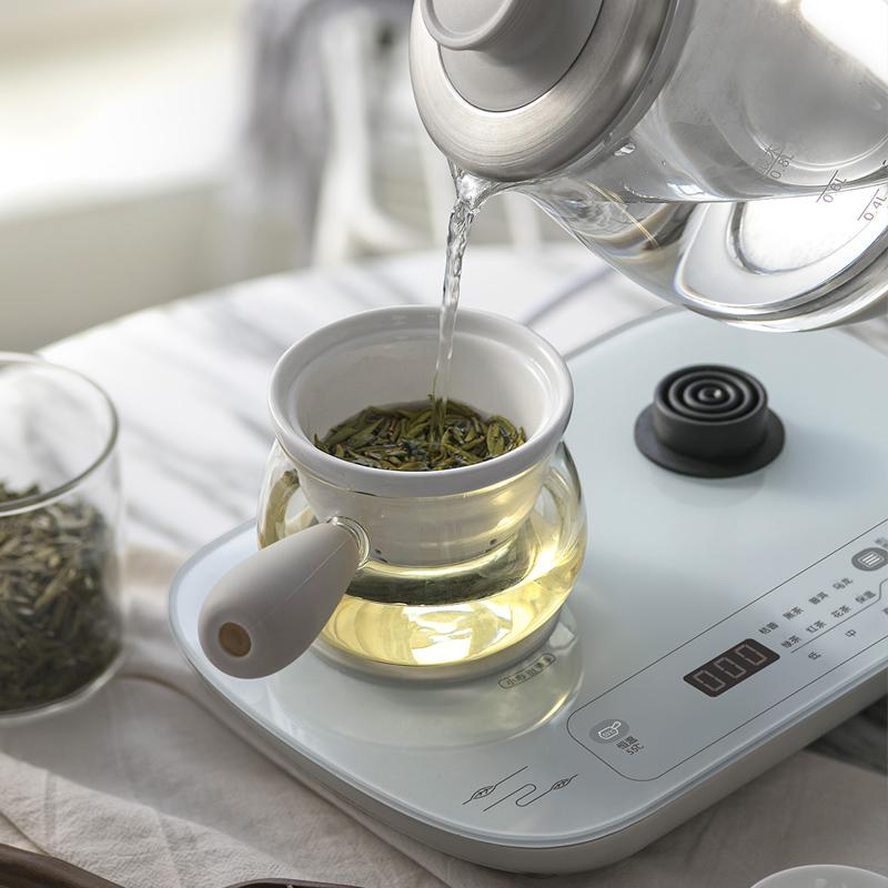 小熊黑茶煮茶器玻璃全自动蒸汽养生电热家用煮茶壶电器官方旗舰店