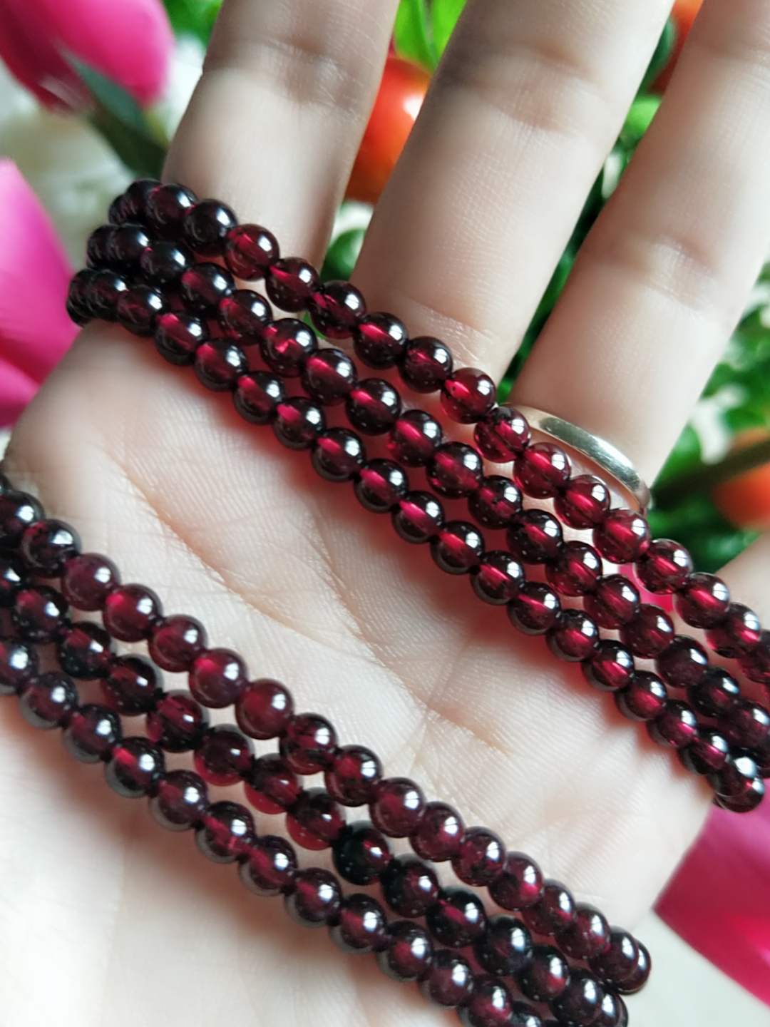 Special customized Bracelet | wine red garnet Beads Bracelet | women's health stone | beauty and beauty 4m