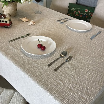 Japanese style art pure pigment color thick linen coarse linen cotton and linen round table cloth table tea table cloth cover cloth custom-made