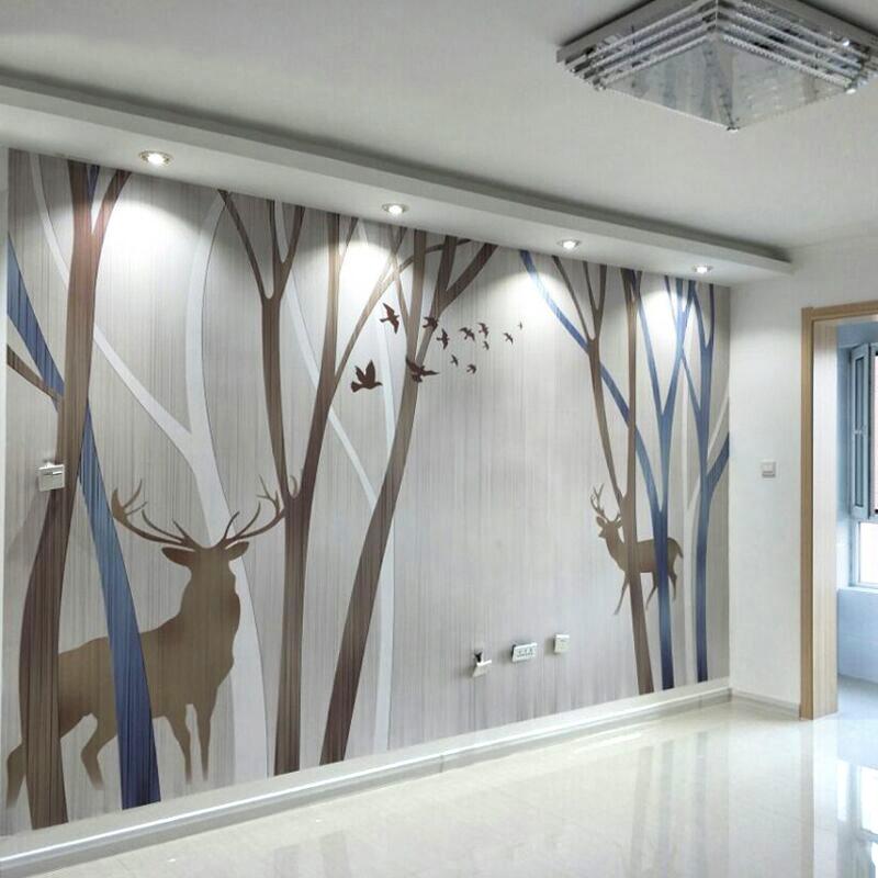 现代简约电视背景墙5d壁纸卧室客厅8d立体墙纸影视墙无缝墙布壁画