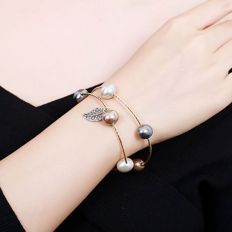 Meiwei Pearl Bracelet womens multi-layer winding Bracelet simple temperament personalized Bracelet ins minority Design Bracelet