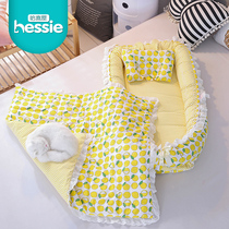 Hashi House Portable baby crib cotton bed in bed multifunctional newborn coax sleeping bionic bed