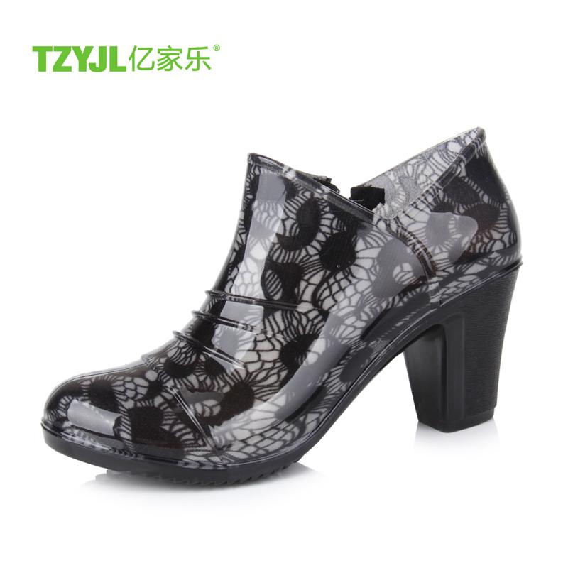 雨鞋 雨靴 女 韓國 春夏坡跟水鞋 女士短筒雨鞋套鞋防滑膠鞋