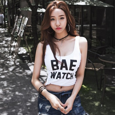 Summer womens pattern slim bottoms fashionable all over thin top suspender vest sleeveless T-shirt