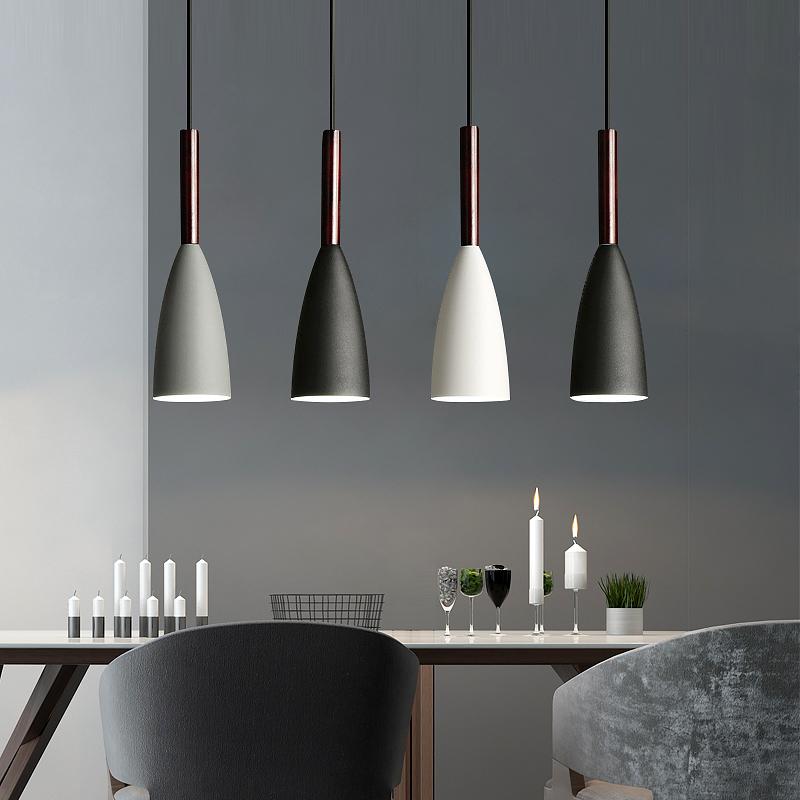 北欧餐厅吊灯三头简约现代家用饭厅吧台餐桌创意个性铁艺led吊灯