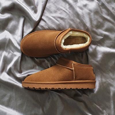 088-P105 真皮雪地靴男棉鞋