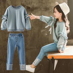女童套装春款2021年洋气新款春装网红卫衣儿童装运动霸气春秋女孩