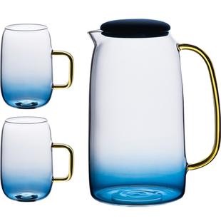 物鳴北歐簡約玻璃冷水壺防爆家用涼水壺耐高温涼白開水壺大容量套