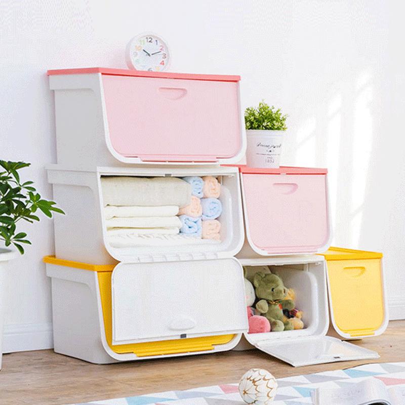日本愛麗思IRIS前開式收納盒客廳收納箱可疊加儲物櫃整理箱愛麗絲