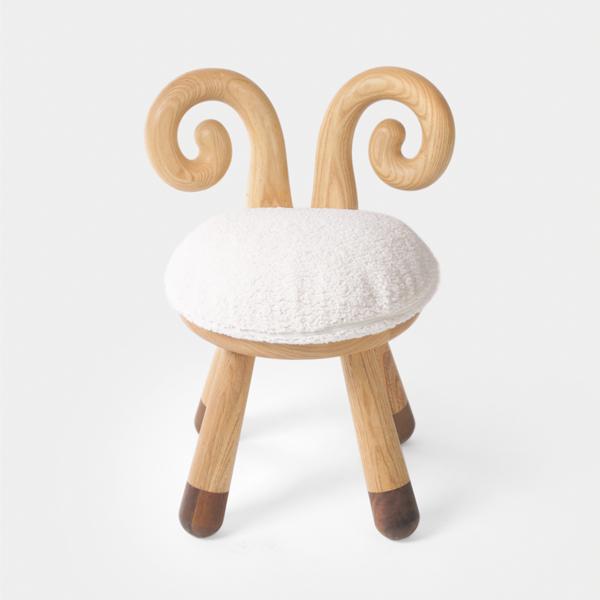 Ребенок подарок ягненок табуретка белый воск дерево черное грецкий орех составить табуретка стул кофейный столик магазин ребенок живопись живопись на форма