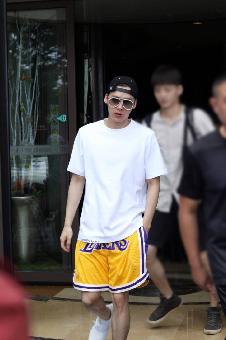 Li Yifengs same shorts Lakers short sleeve mens and womens T-shirt suit just