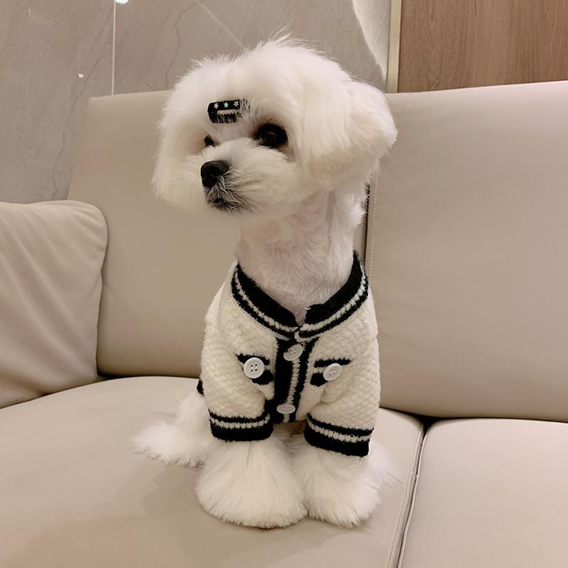 宠物衣服狗狗毛衣小香风比熊法斗泰迪博美小狗小型犬猫咪冬天服饰