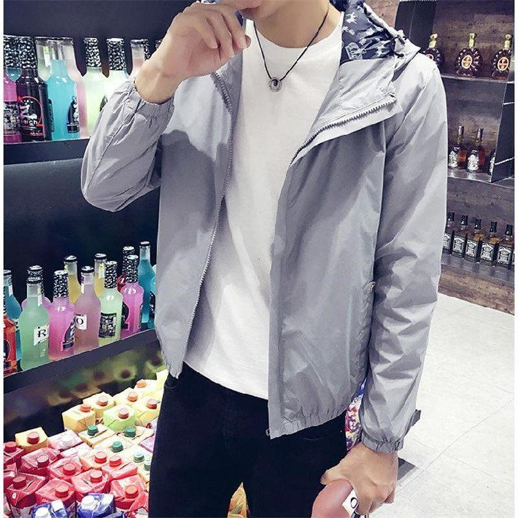 Spring and autumn coat male student Korean slim casual jacket double-layer thin summer sunscreen sportswear male