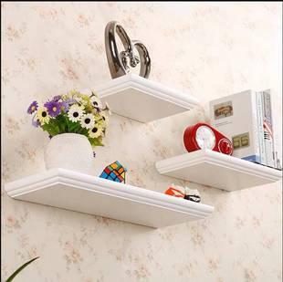 定制烤漆欧式一字隔板置物架卧室壁挂客厅背景墙上书架装搁板架子价格