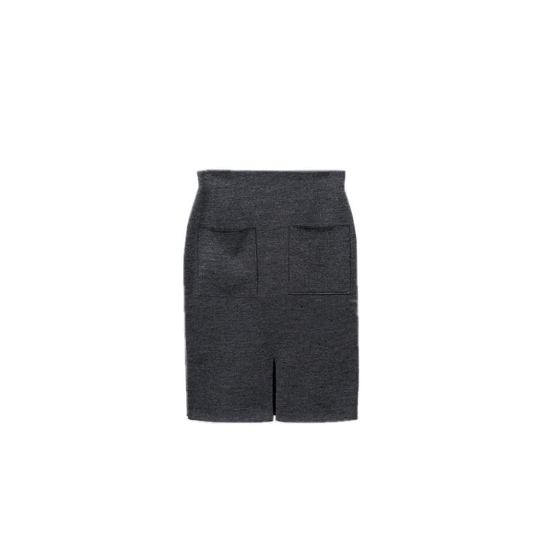 2020秋冬新款韩版加厚针织半身裙
