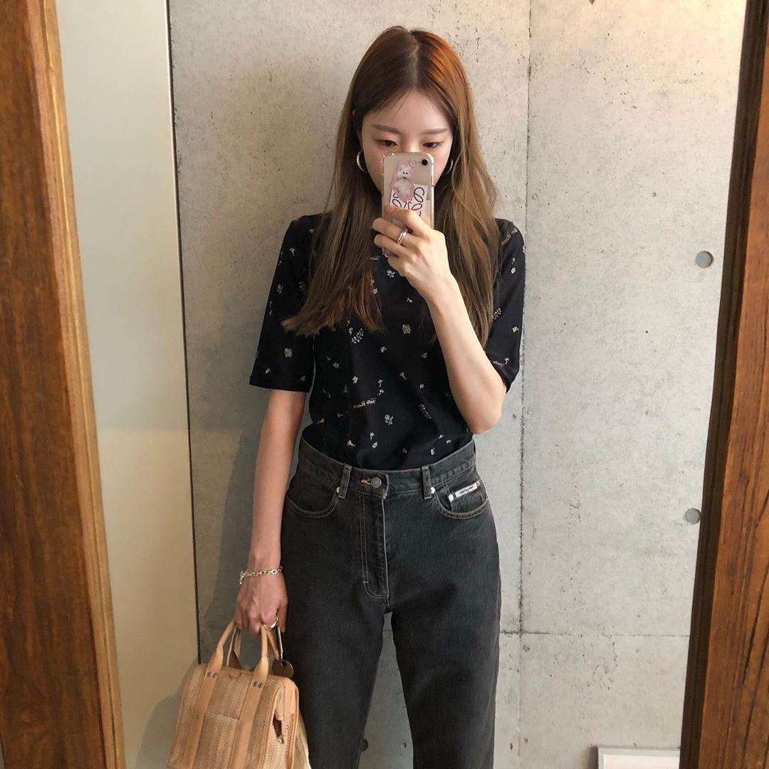 (stock) sanshunya high waist straight tube black gray jeans wide leg pants