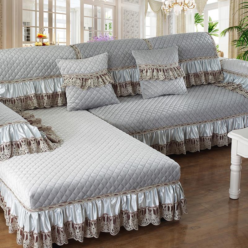 冬季皮沙发垫毛绒全包布艺沙发套沙发罩简约现代防滑欧式坐垫全盖