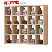创意格子 墙上置物架 茶壶展示架 陶艺架 实木格子架 定做 茶壶架
