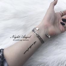 暗夜-欧美个性罗马数字手镯光面开口不锈钢钛钢手链手环情侣男女