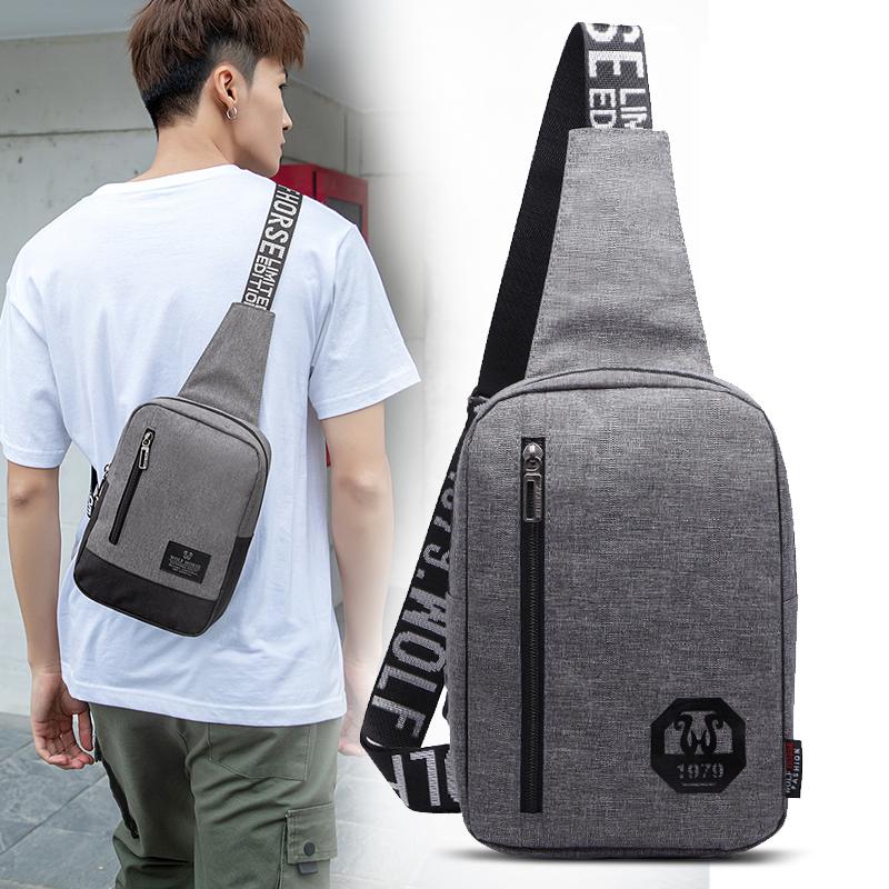 Chest bag mens bag Korean fashion mens casual versatile slanting Single Shoulder Travel Bag student womens backpack Sports