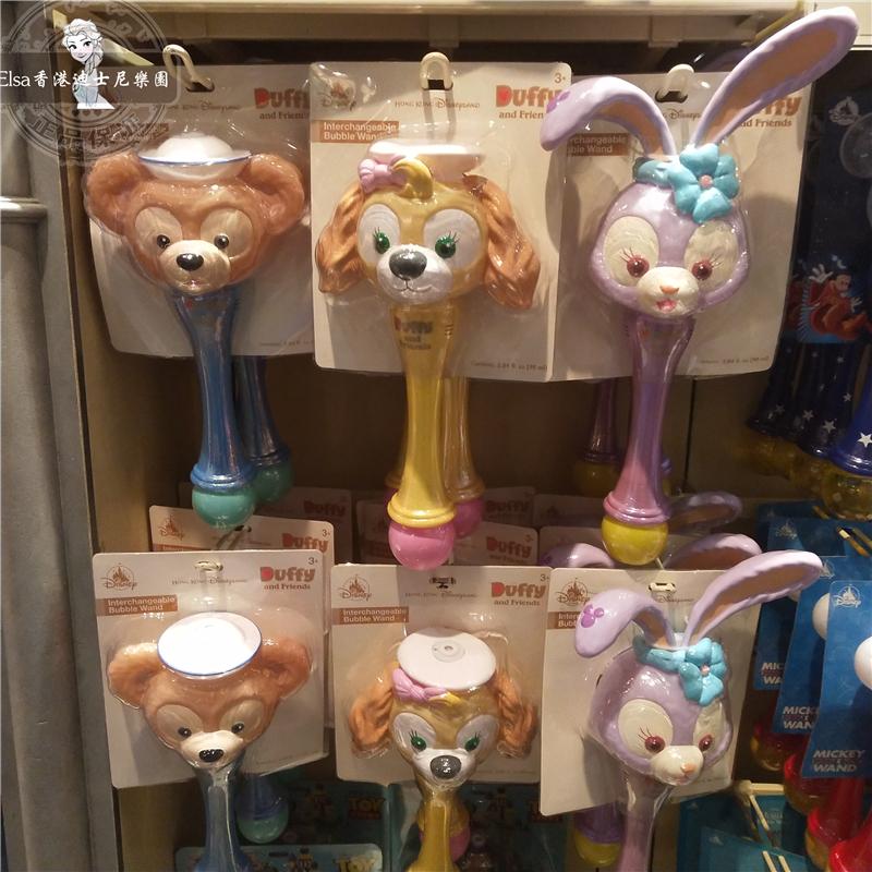 香港迪士尼泡泡机达菲Cookie小狗芭蕾兔卡通玩具吹泡泡自动泡泡机