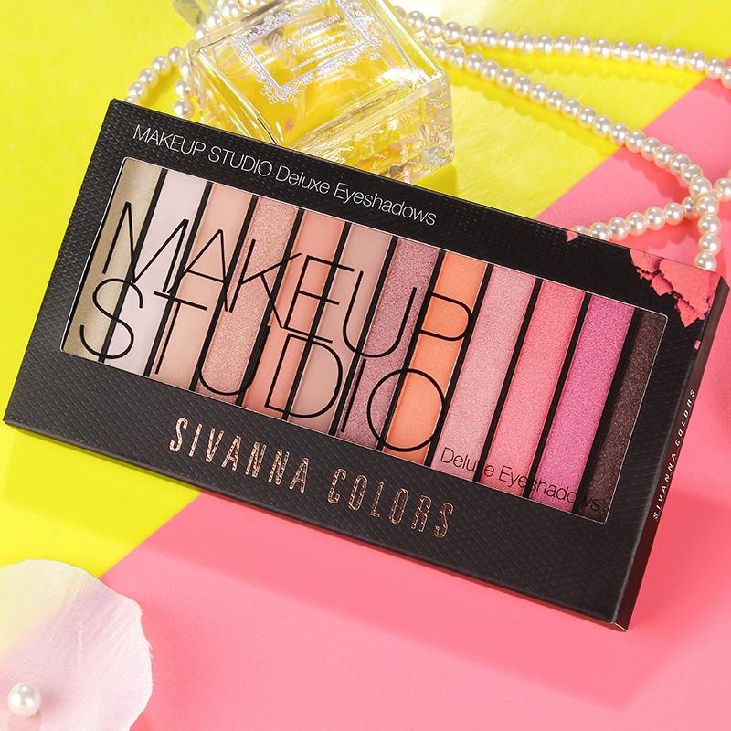 Таиланд Sivanna мысль чистоуст японский иеорглиф ля женских имён 12 цвет теней большая тарелка цветной штейн жемчужина русалка наложница персик составить тени для век