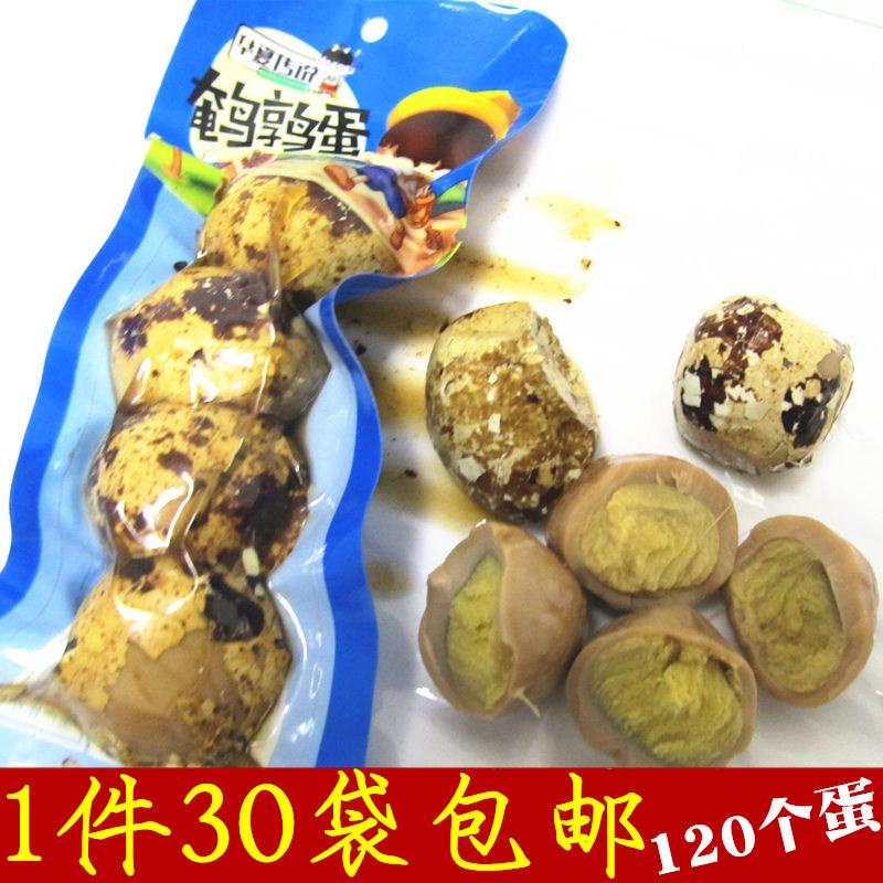 120枚30袋华夏传说五香味鹌鹑蛋32克装带壳带皮禽蛋卤蛋营养零食