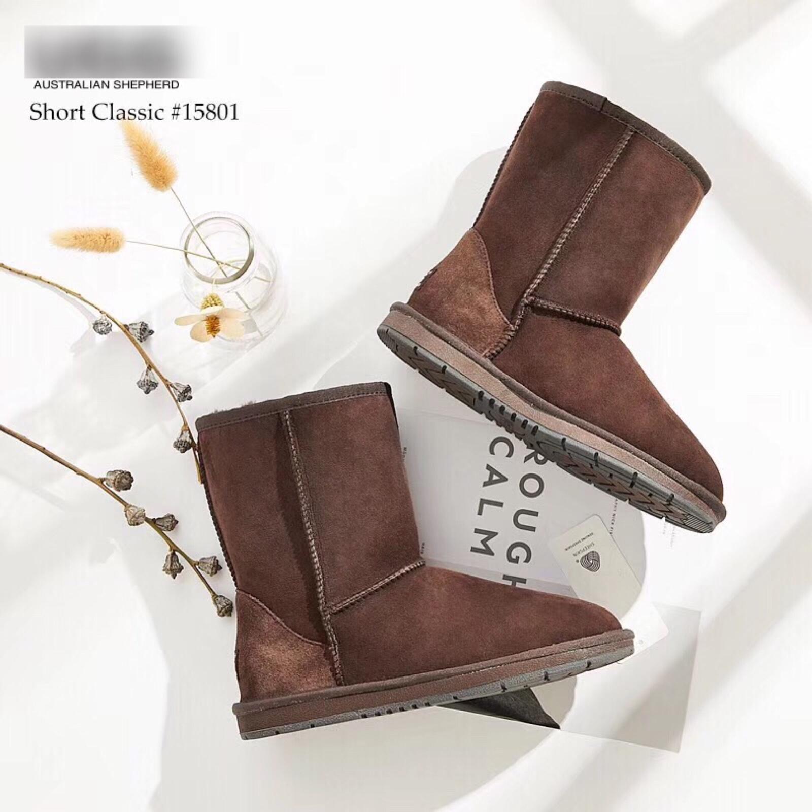 澳洲TARRAMARA皮毛一体保暖羊毛雪地靴中筒基础款女士811020