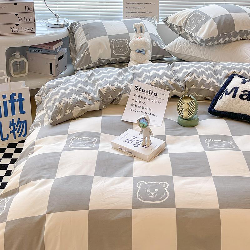 ins风纯棉床上用品100全棉床单