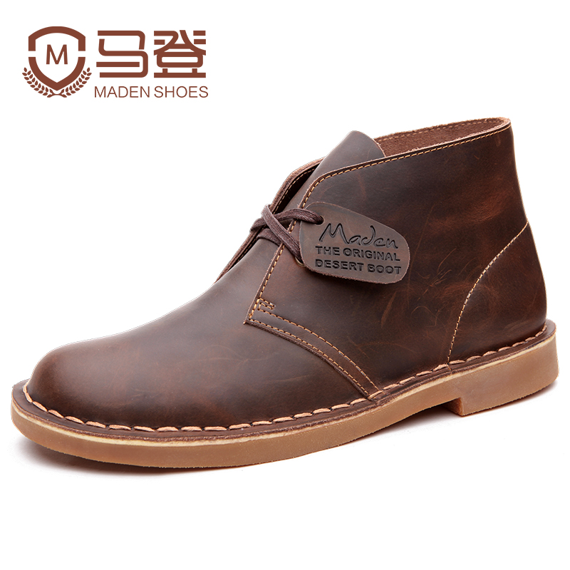 Marten Martin boots men's spring Vintage work clothes boots trend wear British style high top shoes men's mid top shoes desert boots