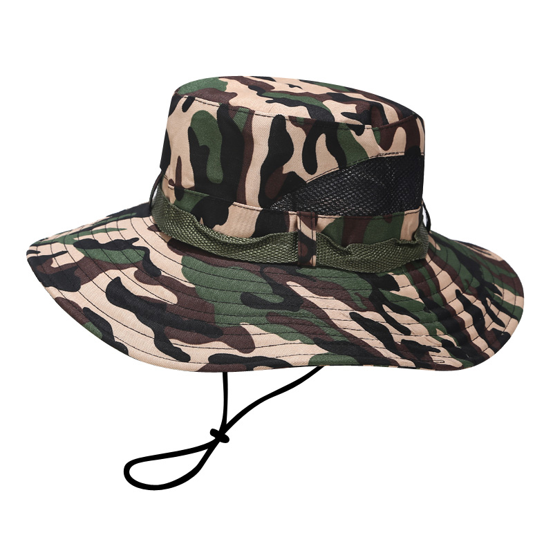 Special forces sunscreen hat outdoor mens summer camouflage sunshade hat fishermans hat big eaves fishing mountaineering sun hat