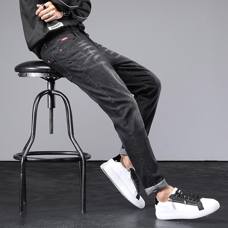 2021秋季爆款修身牛仔裤男小脚韩版高端潮牌青年直筒K1828-P50