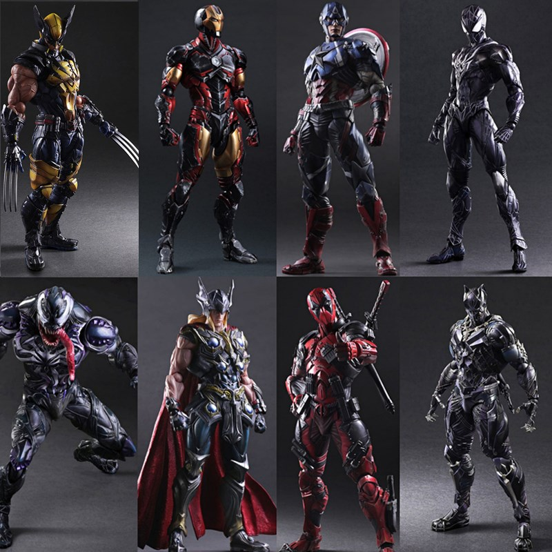 PA change Avenger League 3 movable deacon, spider iron man, United States team, black panther, hand-made model toy gift 4