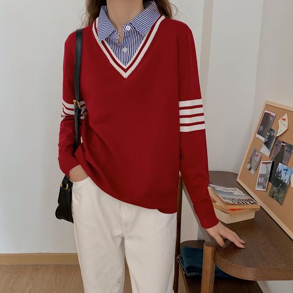 KTY12666#大码女装秋冬新款外穿套头针织衫胖妹妹毛衣上衣打底衫